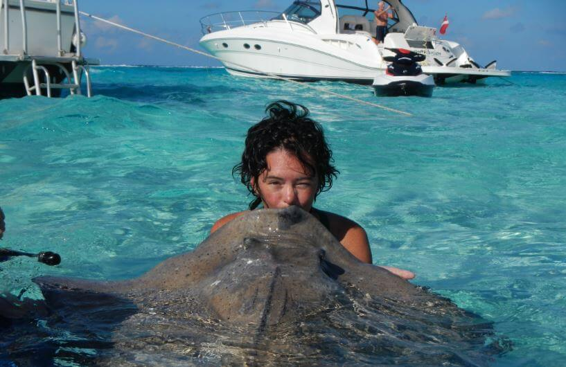 Kissing Stingrays In Stingray City Grand Cayman